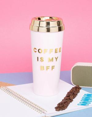 BAN DO Дорожная кружка с надписью Coffee Is My BFF Ban.Do. Цвет: мульти