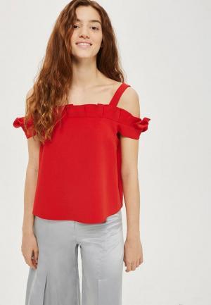 Блуза Topshop. Цвет: красный