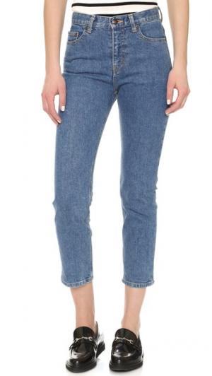 Прямые укороченные джинсы Steven Alan. Цвет: винтажный выцветший оттенок
