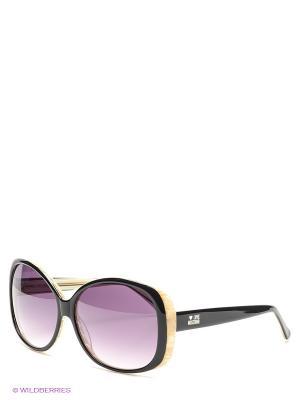 Солнцезащитные очки ML 518S 01 MOSCHINO. Цвет: черный, бежевый