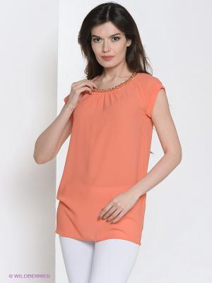 Блузка VILATTE. Цвет: оранжевый