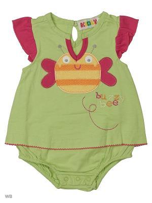 Платье-боди Kidly. Цвет: салатовый, розовый