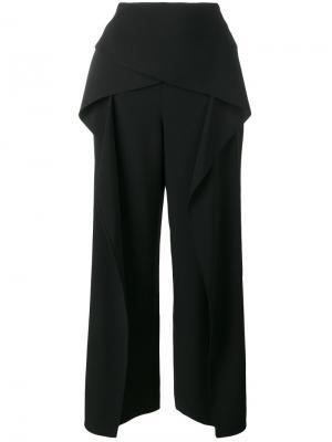 Укороченные широкие брюки Roland Mouret. Цвет: чёрный