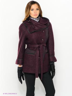 Пальто Malinardi. Цвет: темно-фиолетовый