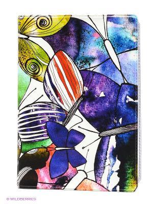 Обложка для автодокументов Акварельные бабочки Mitya Veselkov. Цвет: зеленый, фиолетовый, желтый