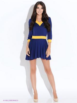 Платье Colambetta. Цвет: синий, желтый
