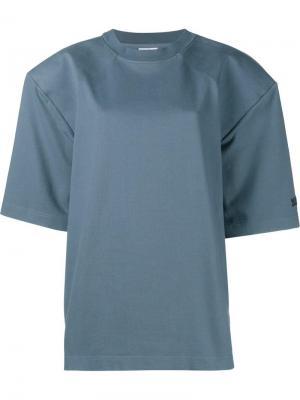 Свободная футболка Vetements. Цвет: синий