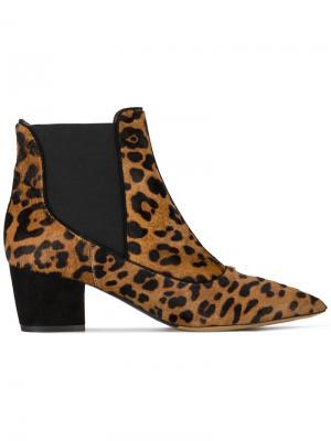 Леопардовые ботильоны Shadow Tabitha Simmons. Цвет: коричневый