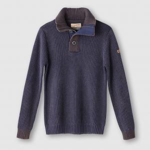 Пуловер с высоким воротником PETROL INDUSTRIES. Цвет: синий