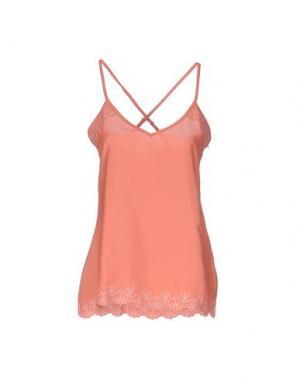 Топ без рукавов M!A F. Цвет: лососево-розовый