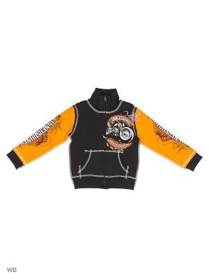 Толстовка Детская Rock Hard Ride Free SINNER's BONES. Цвет: черный, оранжевый