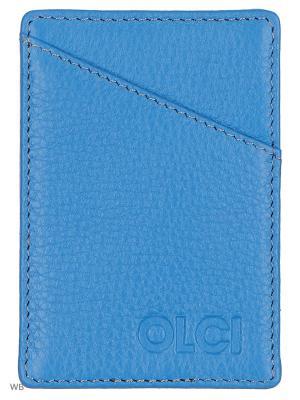 Визитница Olci. Цвет: голубой
