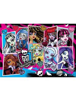 Monster High. Пазл в чемоданчике. High. Цвет: белый, красный, синий