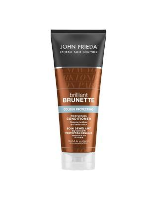 Увлажняющий кондиционер для защиты цвета темных волос Brilliant Brunette Сolour Protecting, 250 мл John Frieda. Цвет: белый