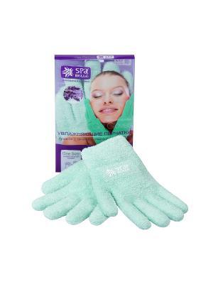 Увлажняющие гелевые перчатки Spa belle. Цвет: зеленый