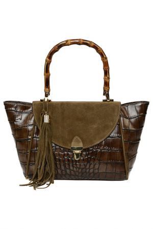 Bag CARLA FERRERI PRIVE COLLECTION. Цвет: khaki