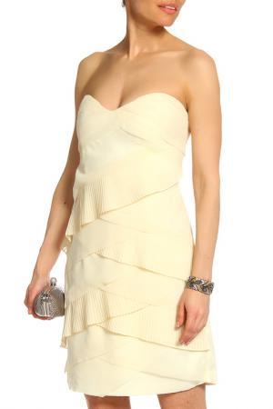 Элегантное коктейльное платье Acasta. Цвет: светло-бежевый