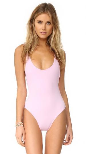 Сплошной купальник Elle Karla Colletto. Цвет: бледно-розовый