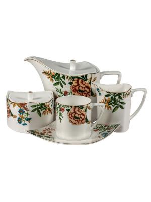 Сервиз чайный 17 предм. на 6 персон Джардино Royal Porcelain. Цвет: молочный