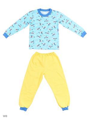 Пижама KIDONLY. Цвет: голубой, желтый