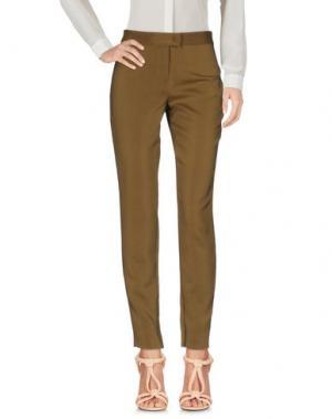 Повседневные брюки VIONNET. Цвет: зеленый-милитари