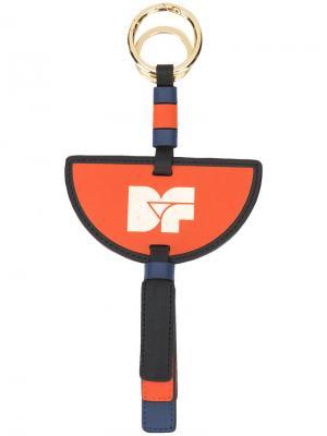 Брелок с принтом в виде логотипа Dvf Diane Von Furstenberg. Цвет: жёлтый и оранжевый