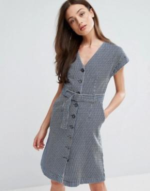 MiH Jeans Платье с поясом Tucson. Цвет: синий