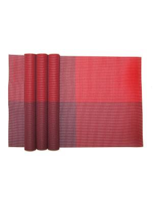 Плейсматы, 4 шт DiMi. Цвет: бордовый