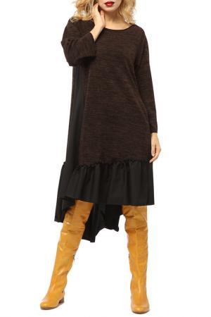 Платье Kata Binska. Цвет: коричневый, меланж