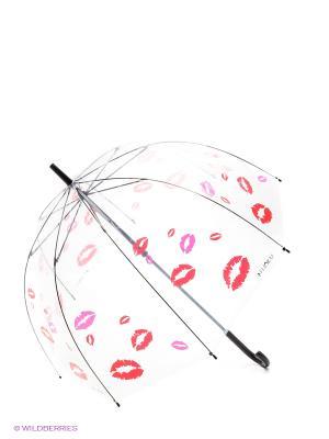 Зонт Flioraj. Цвет: красный, прозрачный