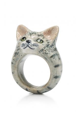 Кольцо 184772 Nach Jewellery. Цвет: серый