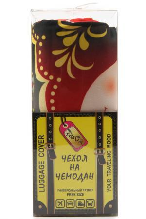 Чехол на чемодан SOVA COVER. Цвет: матрешка красная