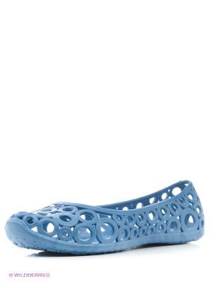 Балетки Cassy. Цвет: голубой