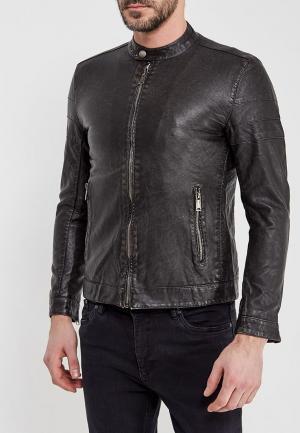 Куртка кожаная Y.Two. Цвет: коричневый