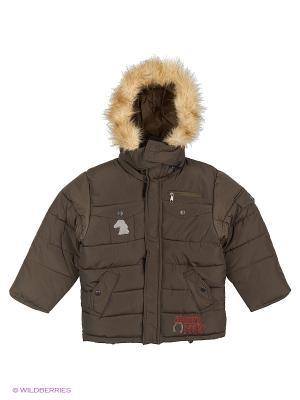 Куртка для мальчика Родео Пралеска. Цвет: хаки
