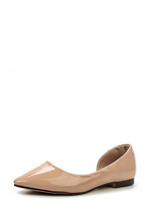 Балетки Sweet Shoes. Цвет: бежевый