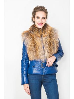 Кожаная куртка MONDIAL. Цвет: темно-синий