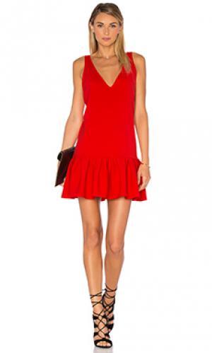 Платье carrie Amanda Uprichard. Цвет: красный