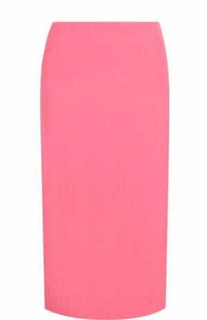 Однотонная юбка-миди Marni. Цвет: розовый