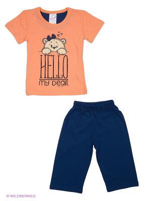 Комплект Vienetta Secret. Цвет: персиковый, синий