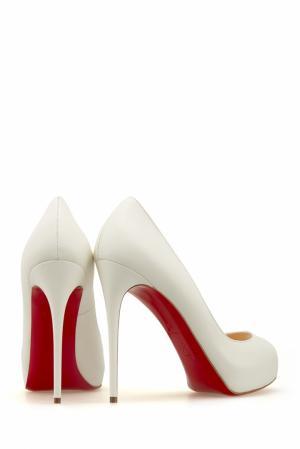 Кожаные туфли New Very Prive 120 Christian Louboutin. Цвет: белый