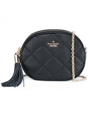 Стеганая сумка через плечо Kate Spade. Цвет: чёрный