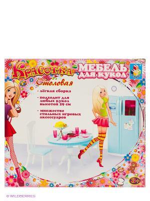 Кухня с холодильником - Красотка 1Toy. Цвет: розовый