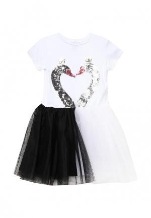 Платье Acoola. Цвет: черно-белый