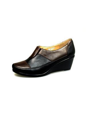 Туфли Avenir. Цвет: черный, коричневый