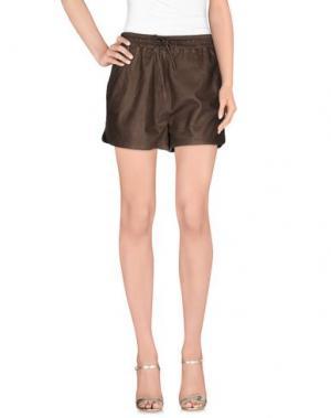 Повседневные шорты VINTAGE DE LUXE. Цвет: темно-коричневый
