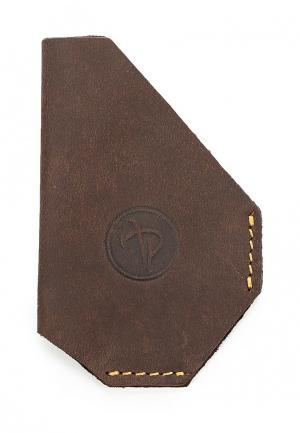 Визитница Pellecon. Цвет: коричневый