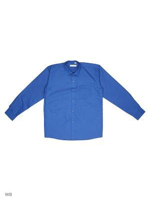 Рубашка FASHION LEADER. Цвет: синий