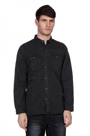 Рубашка  Classic Woven Charcoal Converse. Цвет: черный