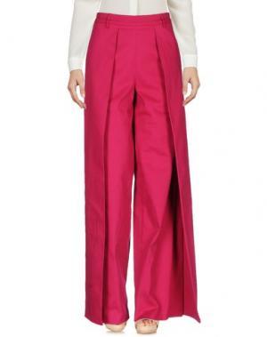 Повседневные брюки ULTRA'CHIC. Цвет: фуксия
